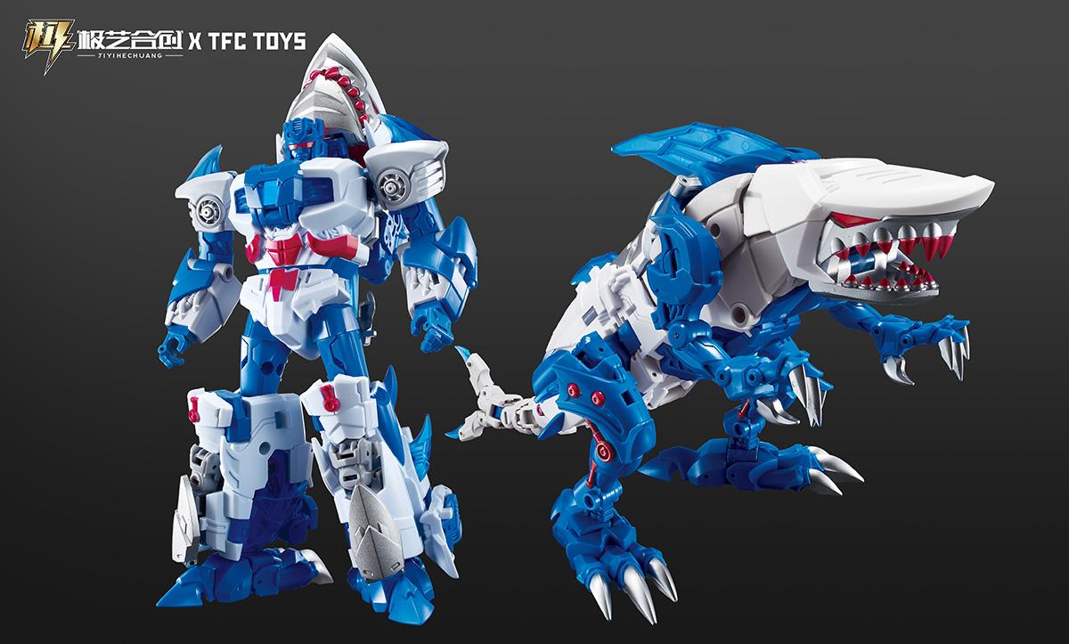 TFC撒坦-碎尸鲨变形玩具