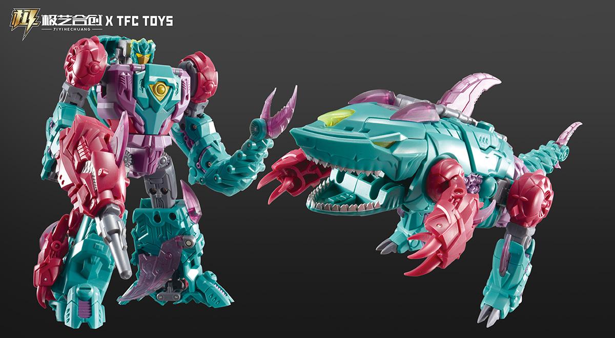 TFC波塞冬-P02-巨齿鲨-CYBERJAW变形玩具